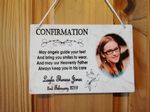 Personalised Photo Confirmation Keepsake Plaque